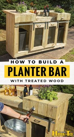 How to build a garden planter that doubles as an outdoor bar Get the best Gardneing and DIY Home Improvement ideas and learn more at diyfloor floor # Outdoor Garden Bar, Diy Outdoor Bar, Backyard Bar, Backyard Landscaping, Backyard Ideas, Outdoor Gardens, Outdoor Ideas, Outdoor Living, Outdoor Decor