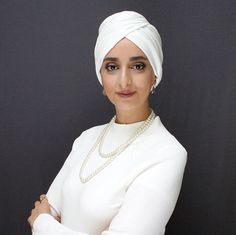 Cream smart hijab, women's turban with height at front, modest stretch turban, instant hijab – fully draped for wearing over long hair Turban Hijab, Modest Fashion Hijab, Hijab Chic, Beau Hijab, Hijab Styles For Party, Instant Hijab, Hijab Style Tutorial, Turban Style, Dress Tutorials