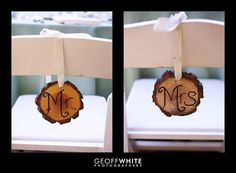 Easy and Simple signs for the bride and groom table