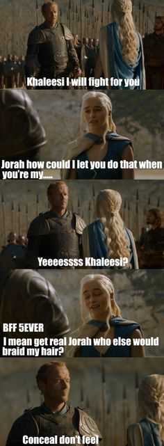 Jorah Mormont, President of the Friend-Zone