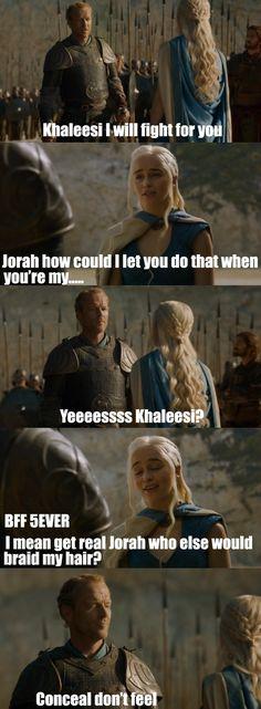 Jorah Mormont, President of the Friend-Zone