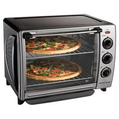 One of the beset things you will like about the Hamilton Beach Countertop Oven with Convection & Rotisserie is its extra-large capacity. It provides 1.1 cubic feet of interior space. This is enough to cool a whole meal in. The oven can accommodate two 12-inch pizzas or even a whole chicken.