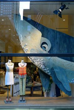 whale window display #anthropologie