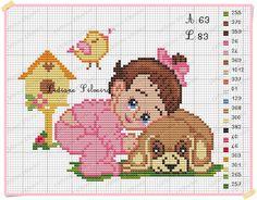 Cross Stitch For Kids, Cross Stitch Baby, Cross Stitch Animals, Cross Stitch Charts, Cross Stitch Designs, Cross Stitch Embroidery, Cross Stitch Patterns, Knitting Patterns, Baby Knitting