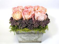 Contemporary Dried Floral Arrangement    #driedflowers  #flowerarrangements  #frenchcountry
