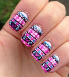 Heel precieze nail-art!