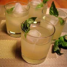 Have a sip of summer - Basil Lemon Infused  Vodka Gimlets.