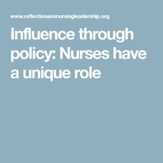 an introduction to the major role of nurses in the health sector today Other actors in the health care sector can be  a major absorption effort  the role of the health care sector in expanding economic opportunity.