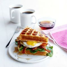 Why choose when you can have waffles and eggs?! This is the perfect brunch sandwich. Get the recipe.