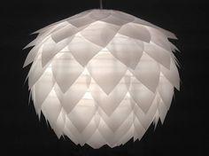 Pendant/chandelier Lotus flower transparent paper