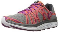 Pearl Izumi Women's W EM Road M 3 V2 Running Shoe, Smoked Pearl/Clementine, 9 B US *** More info @