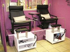 DIY: How to Create Your Own Pedicure Platform - This link includes the supply list and full instructions. #nailspa #nailsalon www.OneMorePress.com