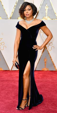 See All the Celebrity Looks from the 2017 Academy Awards Red Carpet - Taraji P. Henson from InStyle.com