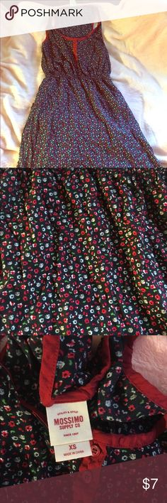 Mossimo Floral Sundress Size XS Mossimo for Target navy and red Floral Sundress. Very good shape. Size XS. Comes above the knee. Mossimo Supply Co. Dresses Mini