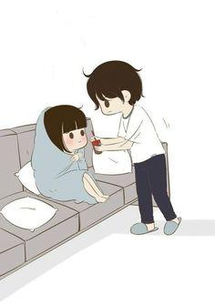 Love Cartoon Couple, Cute Couple Comics, Cute Couple Art, Chibi Couple, Anime Love Couple, Cute Love Stories, Cute Love Pictures, Cute Cartoon Pictures, Cute Couple Drawings