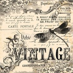 Finire di conrollare per gli immagini vintage. Vintage collage background di lynea, file vettoriale royalty free #50349663 su Fotolia.com