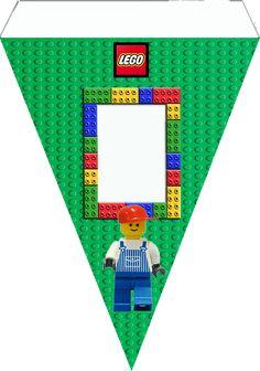 """Cone para Guloseimas Tema """"Lego"""" para Imprimir ..."""