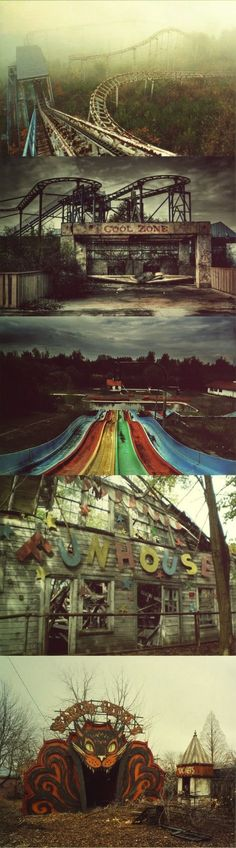 Abandoned Theme Parks. These are creepy , but I would love to go to one!!...