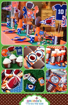 Football Party  Birthday Printable by AmandasPartiesToGo on Etsy, $15.00