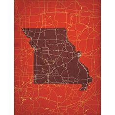 Missouri   City Prints Map Art
