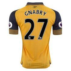 Arsenal FC Away 16-17 Season Soccer Shirt #27 GNABRY Jersey [G362]