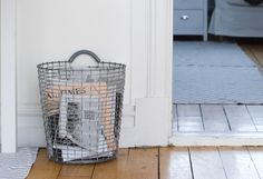 Korbo bin- 1920s Swedish metal basket Collections Of Objects, Metal Baskets, Queen Anne, Four Square, Home Furniture, Stationery, Home Appliances, Ebay, Storage Ideas