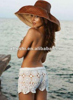 los recién llegados de valores playa sexy crochet ojal pantalones cortos-Traje de baño & ropa de playa-Identificación del producto:654933534-spanish.alibaba.com