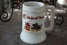 Medieval Times Solid Ceramic Stein with Knights Jousting Hand Decorated Mug Decorating, Bar Scene, Beer Company, Medieval Times, Glazes For Pottery, Brewing Co, Ceramics, Mugs, Ebay