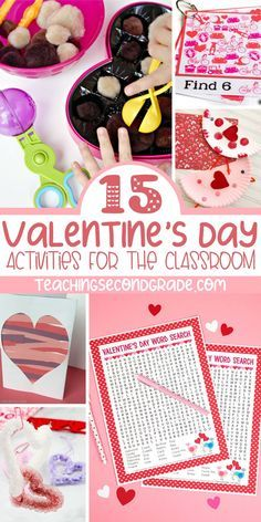 Looking for fun Valentine's Day Activities to do as a class? Here you'll find activities to work on fine motor skills, counting, science, and more. Valentines Day Words, Valentines Day Activities, Holiday Activities, Valentine Day Crafts, Activities For Kids, Kindergarten Activities, Classroom Activities, Valentine's Day Crafts For Kids, Holiday Fun