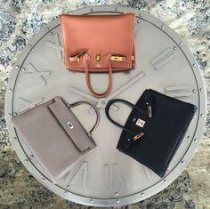 Hermes Neutrals #DesignerBag #Birkin #Kelly (Photo via Pursebop )