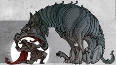 Прекрасный арт от Sceith на тему скандинавской мифологии. мифология, скандинавская мифология, Локи, динннопост, арт, не мое, длиннопост