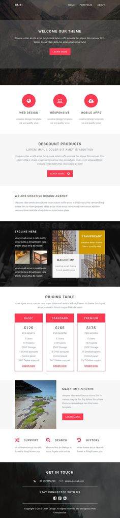 Free Responsive Email Template - Part I Email + Newsletter Tips - responsive email template
