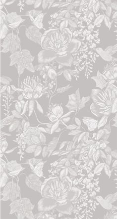 Interior Wallpaper, Wallpaper App, Screen Wallpaper, Pattern Wallpaper, Wallpaper Backgrounds, Grey Wallpaper, Flowery Wallpaper, Shabby Chic Wallpaper, Textured Wallpaper