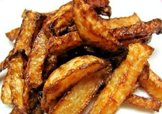 LOW to NO carb Jicama Fries...could bake or grill instead of fries, we should try!!