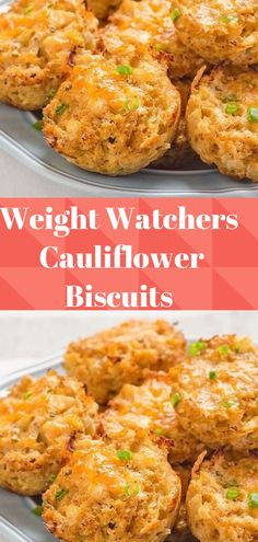 Cauliflower biscuits use with protein gravy! Skinny Recipes, Ww Recipes, Veggie Recipes, Great Recipes, Vegetarian Recipes, Cooking Recipes, Healthy Recipes, Recipies, Weight Watchers Vegetarian