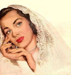Cosmopolitan is an international magazine for women first published in 1940s Wedding, Wedding Pics, Vintage Weddings, Romance, Retro Ads, Ad Art, Illustrations, Marry Me, Beautiful Gowns