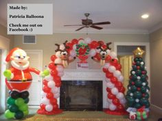 Balloon Christmas Decorations made by Patricia Balloona, http://patriciaballoona.wordpress.com/2013/11/24/286th-287th-288th-balloon-scuptures-jumbo-santa-christmas-tree-arch/