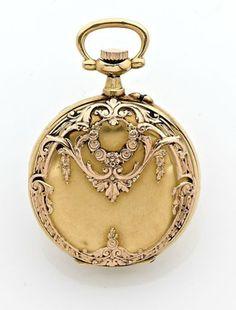 A FINE GOLD MANUAL WINDING PENDANT WATCH CIRCA 1880 #FineGoldJewellery #VintageGoldJewellery