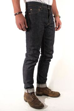Momotaro Jeans 0305-C Copper Label  Old Blue Tight Tapered