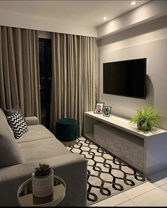 Classy Living Room, Simple Living Room Decor, Living Room Decor Inspiration, Small Room Decor, Small Living Rooms, Home Living Room, Indian Living Rooms, Small Apartment Interior, Modern Apartment Design