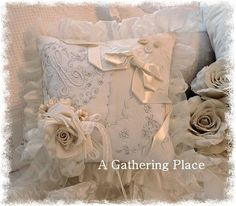 use antique handkerchiefs and some pretty embellishments