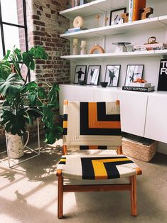 We can't get over how perfectly our Masaya Lounge Chair woven with with Queen Bee pattern fits in @happilygrey with their unmistakable style. Our @landlmarket is so thankful for @marylawlesslee bright and sunny personality. 🐝☀️ Golden Pattern, Style Lounge, Queen Bees, Lounge Chairs, Midcentury Modern, Teak, Hand Weaving, Hardwood, Personality