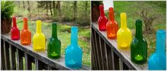 Decorations from glass bottles