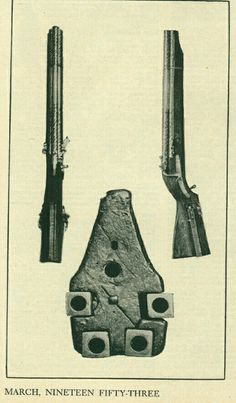 Unique 16th century matchlock repeating musket was capable of shooting seven shots. It has three forward and four backward barrels. After firing three shots the shooter turned the gun around and fired the remaining four shots
