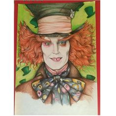 Is this real? Is this pretend? Just dream it...  #madhatter #the_art_display #share_my_inspiration #art #drawing #colors #aliceinwonderland #teaparty #sketch #art #jhonnydeep #disney_arts