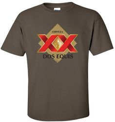 ea3c8c71057 Dos Equis XX Beer T-Shirt Unisex Tee Shirt Custom Designed Color Worn Label  Pattern Men Women 22 Colors and More sizes New