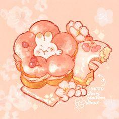 Kawaii Doodles, Cute Doodles, Kawaii Art, Cute Food Drawings, Cute Animal Drawings Kawaii, Dessert Illustration, Cute Illustration, Chibi Food, Cute Food Art