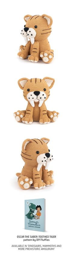 Crochet pattern in our book 'Dinosaurs, Mammoths and More Prehistoric Amigurumi'