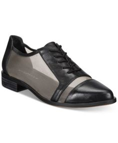 Kelsi Dagger Brooklyn Astoria Lace-Up Mesh Oxford Flats | macys.com