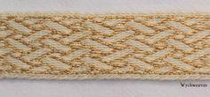 Wychweaves - Birka strapwork motif, woven with gold thread as a threaded-in pattern